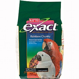 Kaytee exact rainbow chunky complete food for large parrots for Cuisines completes