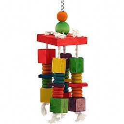 4 Way Spin Wood & Rope Toy
