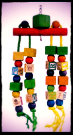 ALPHA Block Bead and rope toy