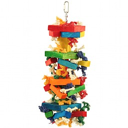 Chewstacks Wood & Rope Toy