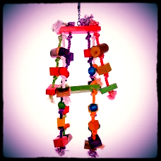 Coloured Rope & Mixed wood Toy (1112)