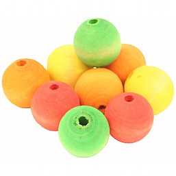 Colourful Wooden Balls x9