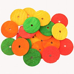 Colourful Wooden Wheels Small x20